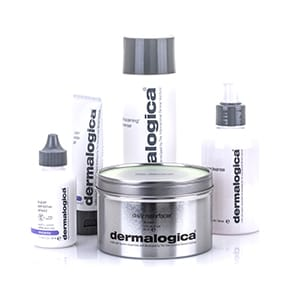 jars and bottles of Dermalogica beauty products
